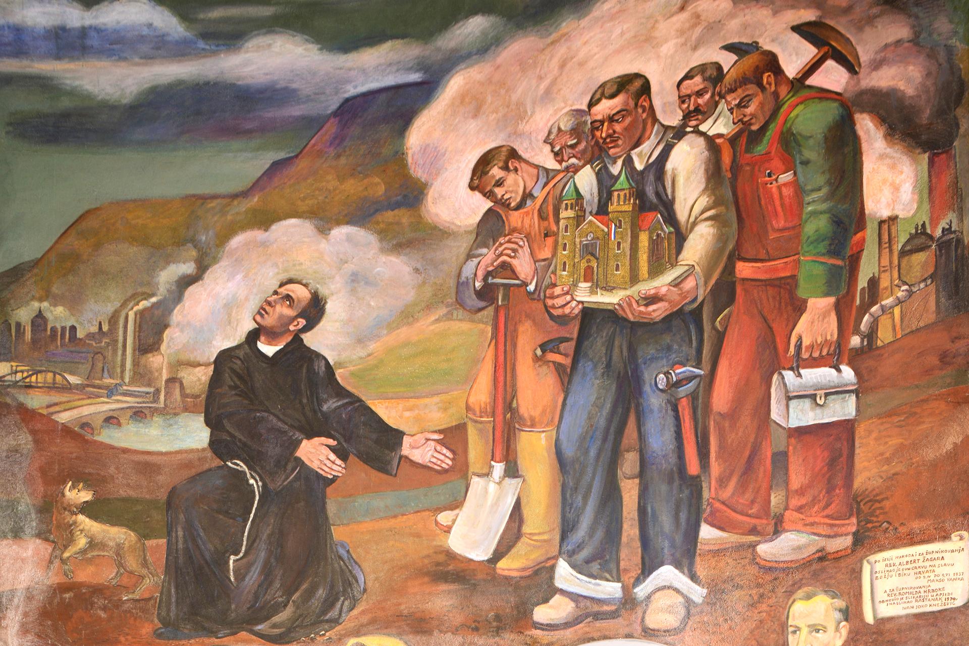 Croatians in America Mural