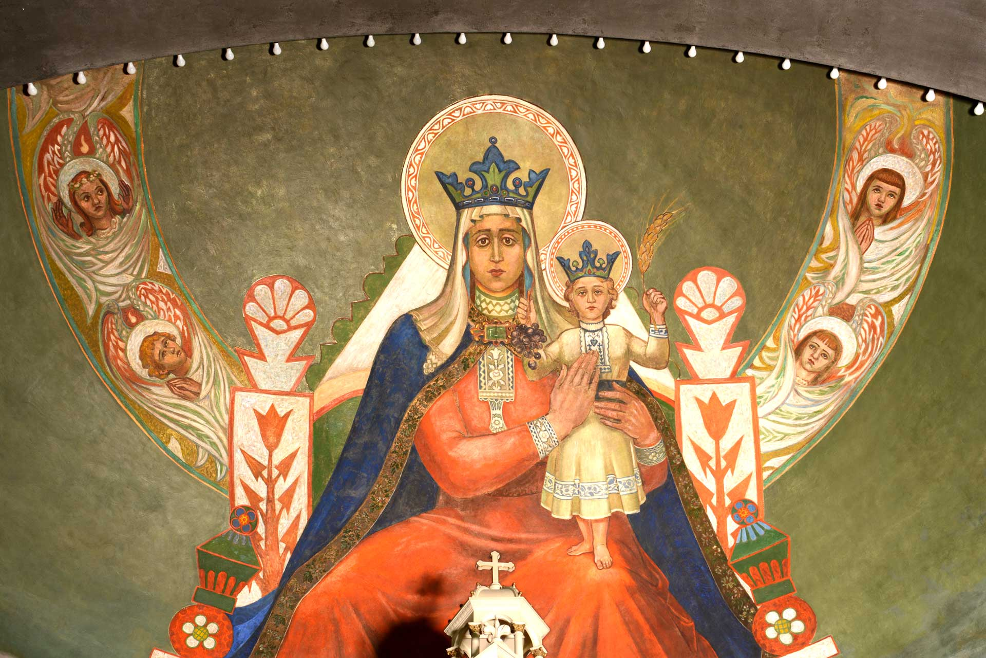 Mary, Queen of Croatia and Arch Mural