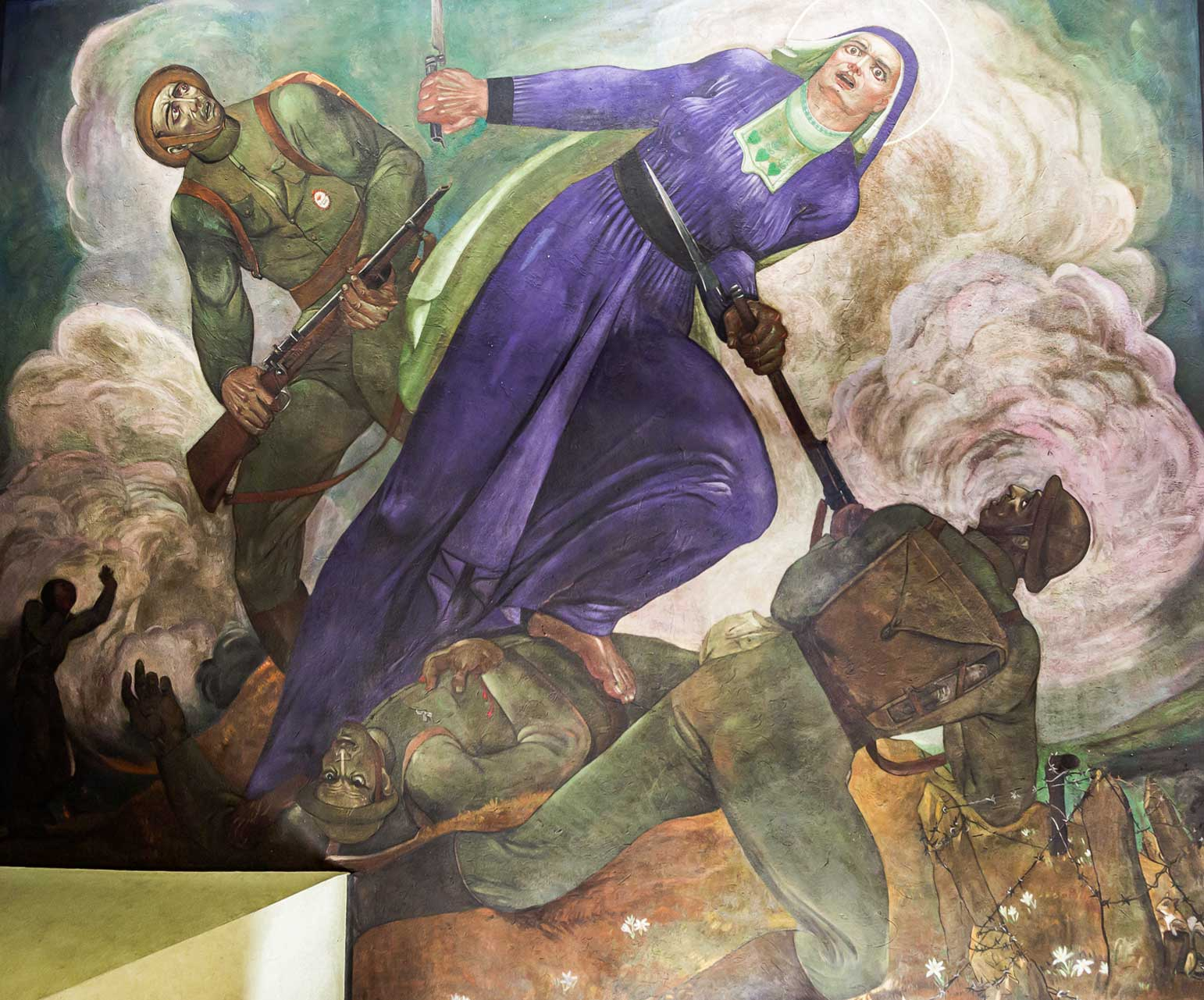 Mary on the Battlefield Mural