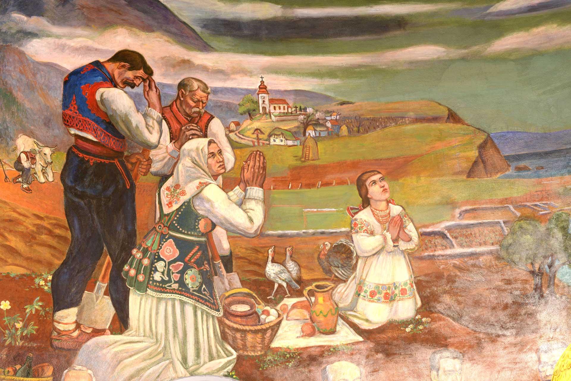 Pastoral Croatia Mural