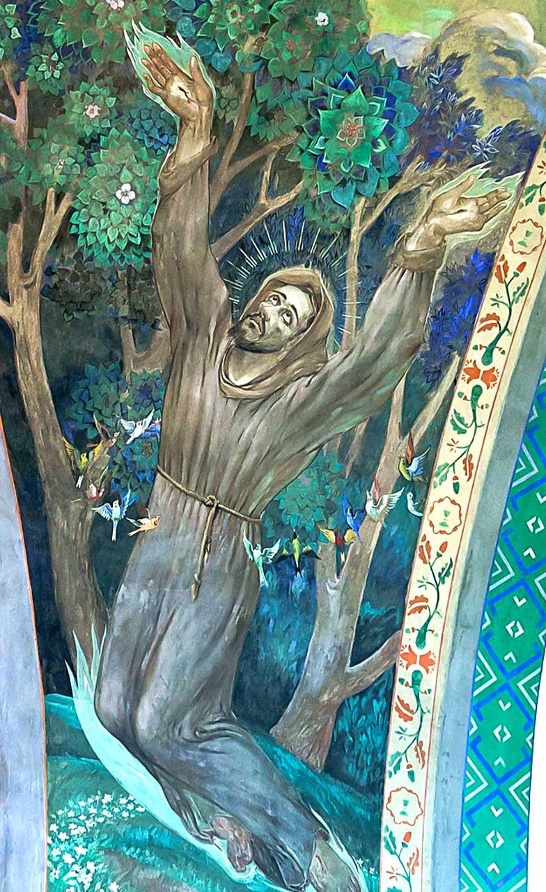 St. Francis mural