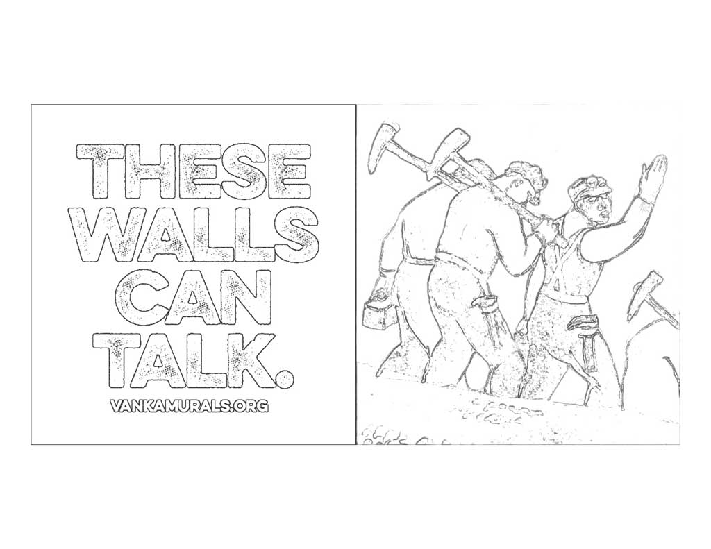 These walls can talk coloring page