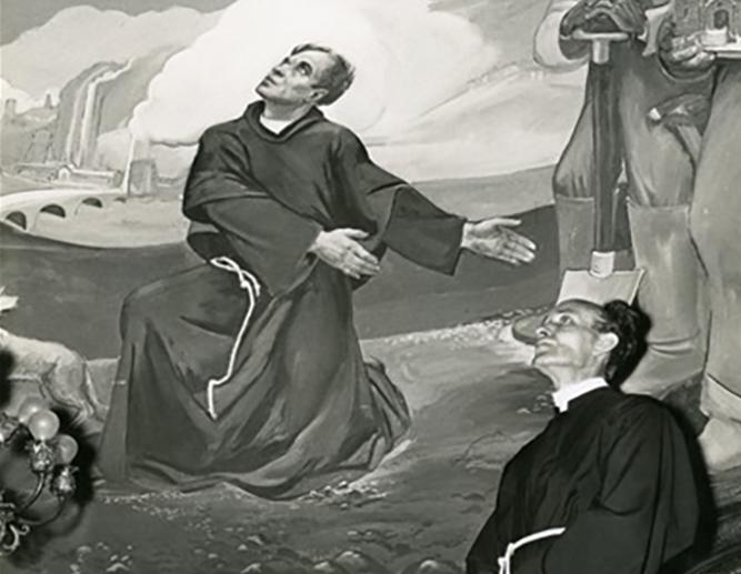 Father Zagar in mural
