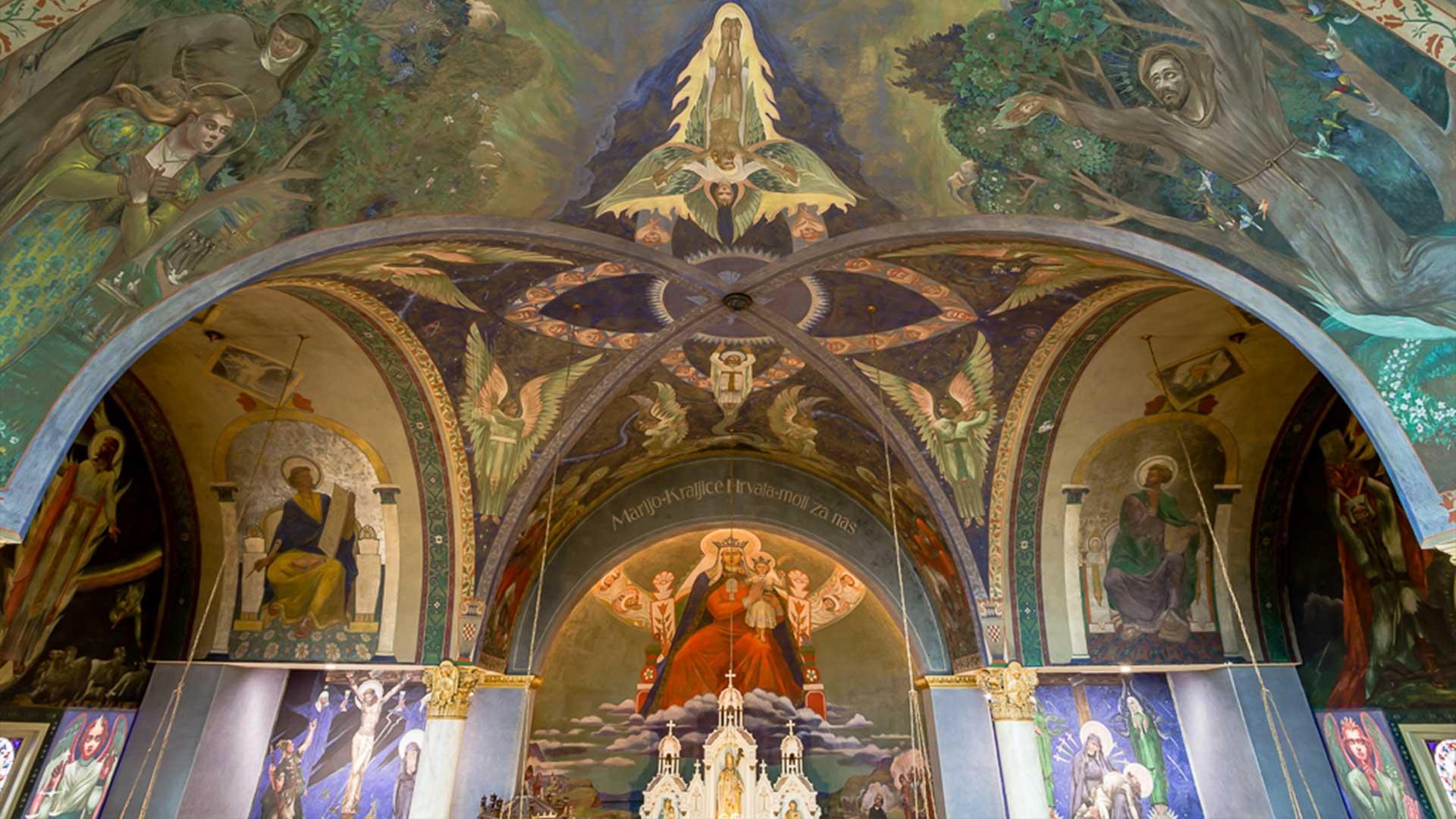 Ceiling of St. Nicholas Church Murals