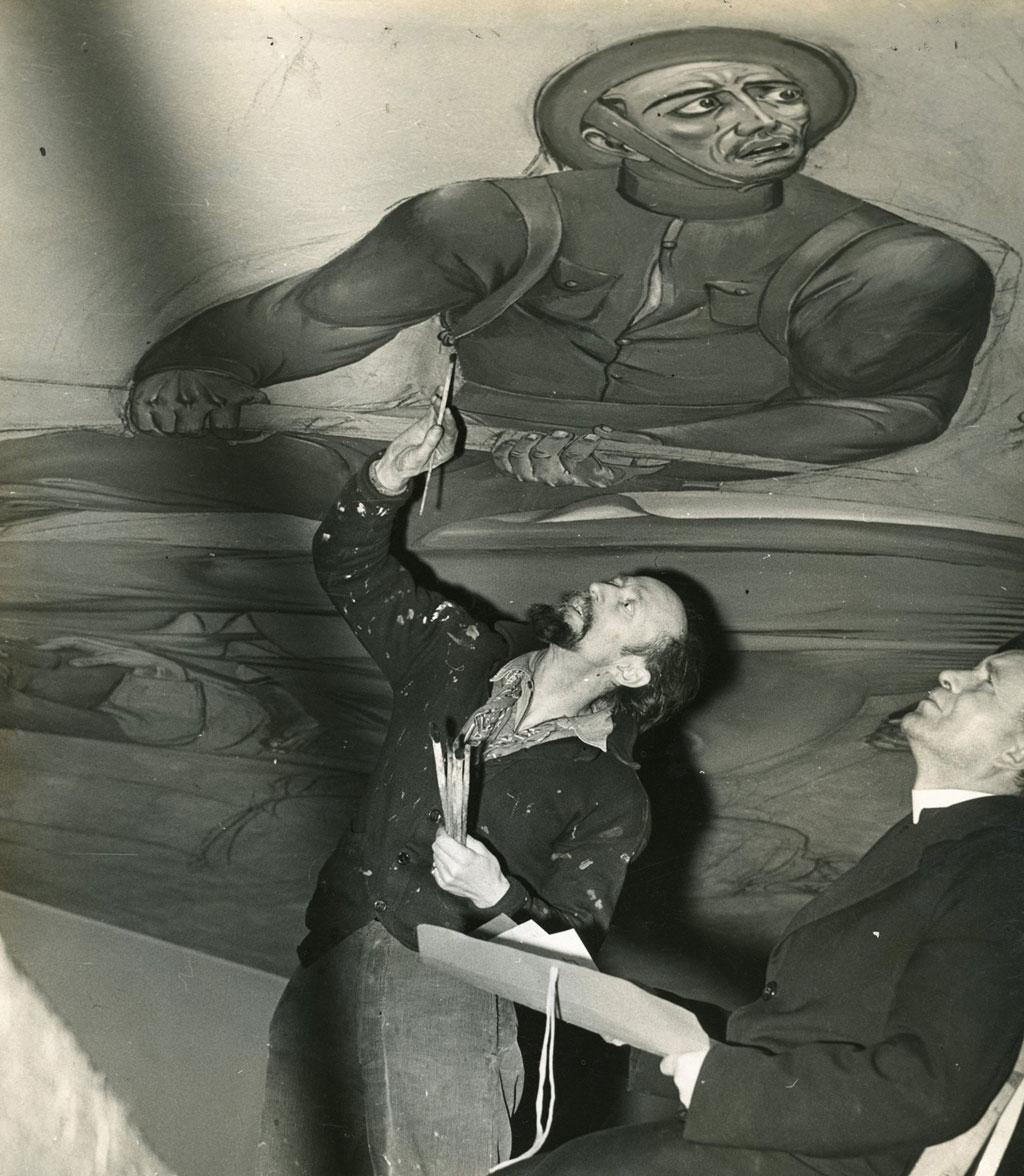 Maxo Vanka painting soldier