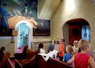 Students learn about Vanka Murals