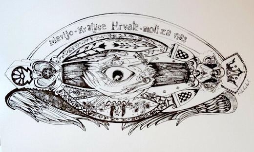 KLoRebel Art Vanka Murals Notecard